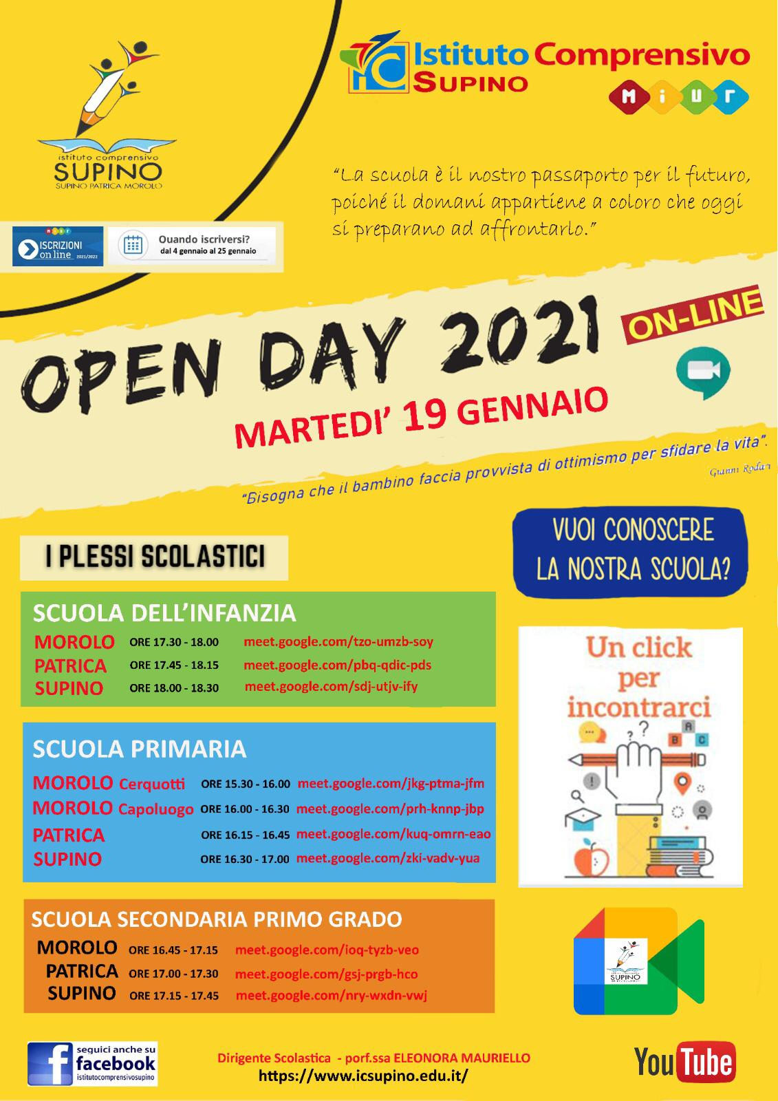 open day ic supino